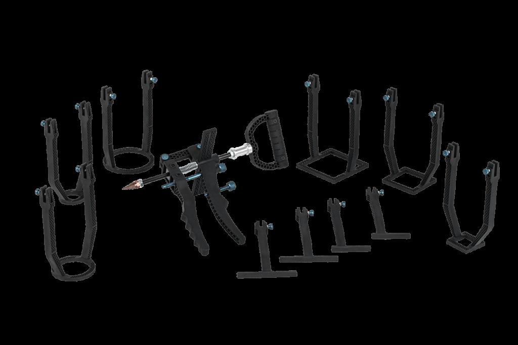 Das CBR Easy-Tool mit vielen Stützfüßen