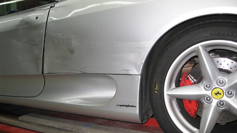 Ferrari Spider Schaden 1