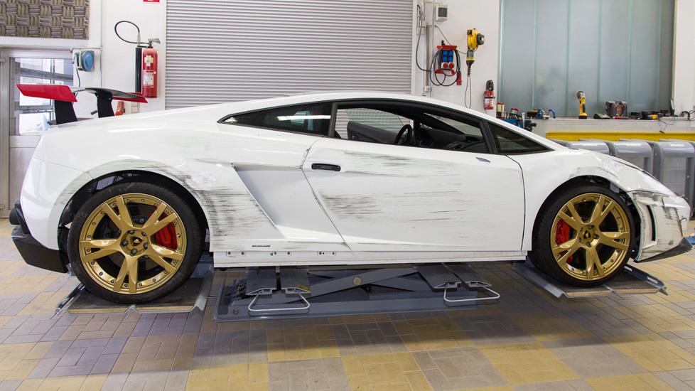 Lamborghini Gallardo weiß Schaden 1