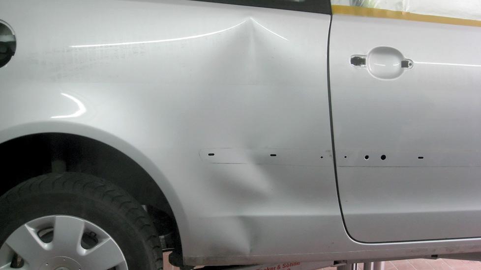 VW Polo Seitenwand Schaden 1