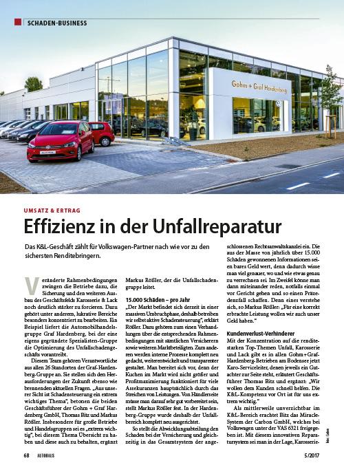 Autohaus Schadenbusiness Effizienz Unfallreparatur 5 2017 web