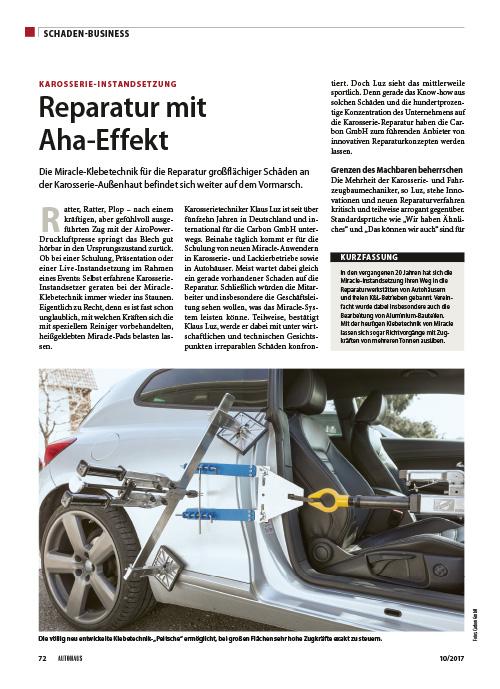 Autohaus Schadenbusiness Reparatur mit Aha Effekt 10 2017 web