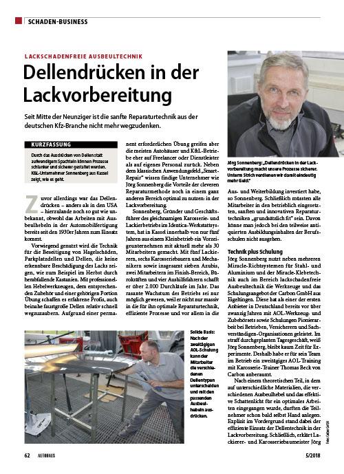 Autohaus Schadenbusiness Dellendruecken in der Lackvorbereitung web