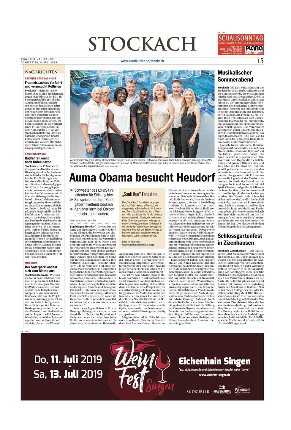 Carbon Auma Obama besucht Heudorf 200322