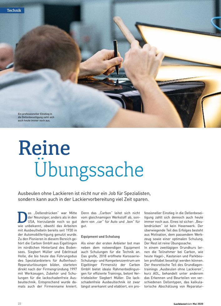 CARBON Lackiererblatt 03 2020 Reine Uebungssache 1 web 980